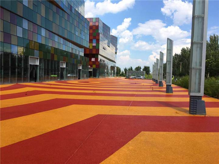 西安彩色透水混凝土路面施工